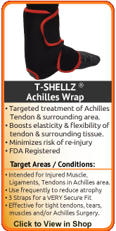 Advanced Therapy for torn achilles, ruptured achilles, sprained ankle or other ankle injury