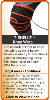 TShellz Wrap Knee for meniscus injury acl injury mcl injury or hyperextended knee