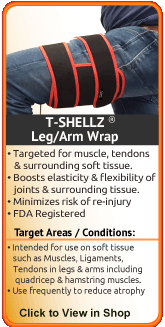 This universal leg wrap can increase healing rate of a shin, calf, groin, thigh, or hamstring