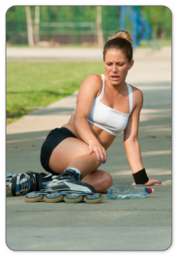anyone can suffer a meniscal injury for a fall