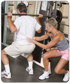 Meniscus surgery cover plan includes assisted squats