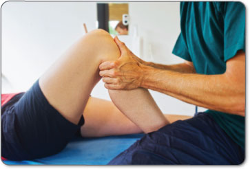 Physical therapists will manually manipulate your leg to increase flexibility of your meniscus tissue.