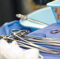surgery hospital tray